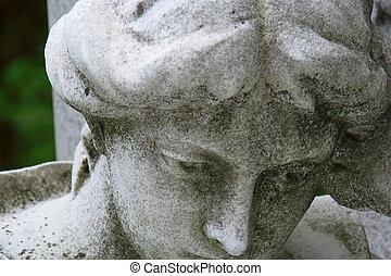 Sad Statue - Sad statue at a cemetery