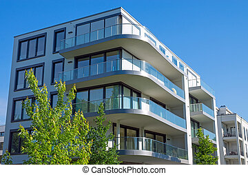 Luxury apartment house - A luxury apartmenthouse seen in the...