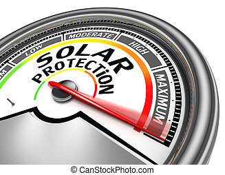 solar protection conceptual meter indicate maximum, isolated...
