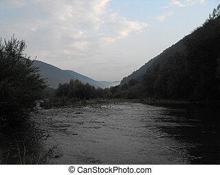 River through the mountains