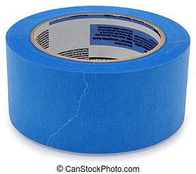 azul, pintores, cinta