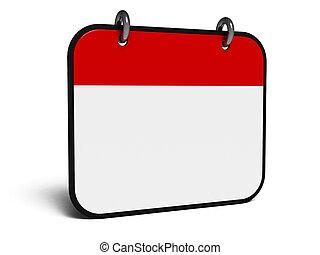 Icon calendar isometry - Empty calendar icon,...