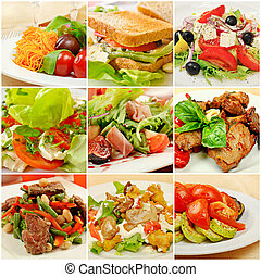 Collage with meals - Collage (set) from various kinds of...