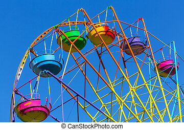 Ferris wheel - Scenic summer view of color Ferris...