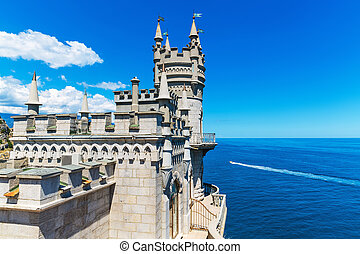 Swallow's, Nest, Castle, Yalta, Crimea, Ukraine