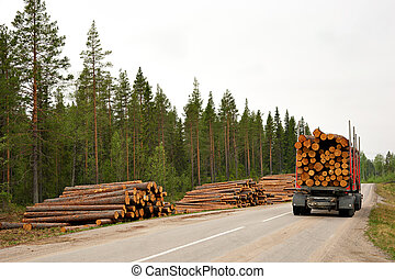 Timber - Transporting harvested timber in scandinavian...