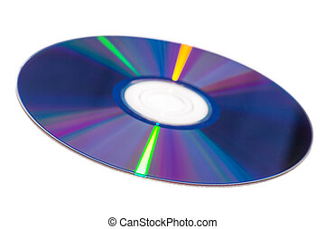 DVD-R - View of DVD-ROM for PC iSolated on White Background....