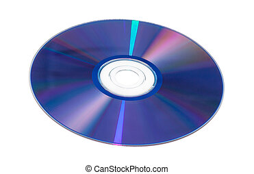 DVD-R - View of DVD-ROM for PC iSolated on White Background.