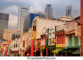 Singapore - Chinatown District - SINGAPORE - DECEMBER 28:...