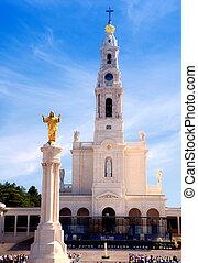 Fatima, Portugal - View of Sanctuary in Fatima, Portugal,...