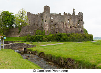Laugharne Castle Wales - Laugharne Castle Carmarthenshire...