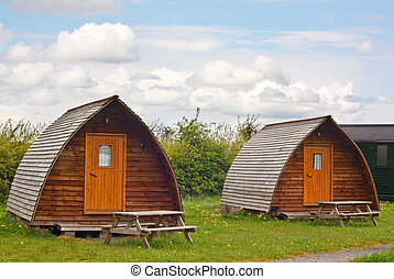 camping teepees - Modern camping tee pees at european camp...