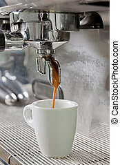 Proffesional coffee machine - Proffesional silver gray...