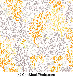 Magical floral seamless pattern background