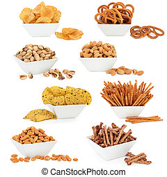 Snack Food - Crisps, tortillas, nuts and pretzel snack food...