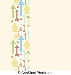 Arrows pointing up vertical seamless pattern background...