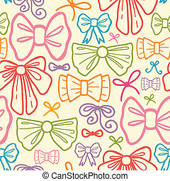 Colorful bows seamless pattern background - Vector colorful...