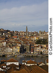 Oporto - View from Oporto city in Portugal