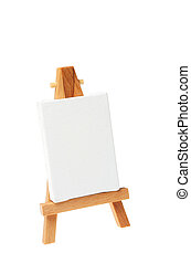 Artists easel - Model artist\\\'s easel and blank canvas...
