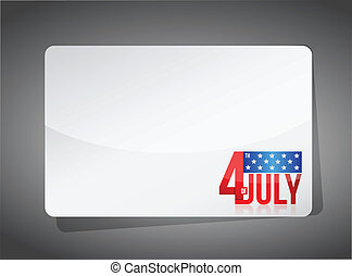 Fourth of july template illustration design