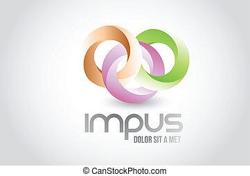 Business round link circles logo symbol illustration design...