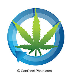 marijuana cycle illustration design over a white background