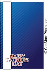 happy fathers day card illustration design