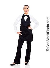 restaurant waitress - pretty restaurant waitress full length...