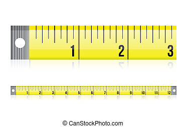 measure tape illustration design over a white background
