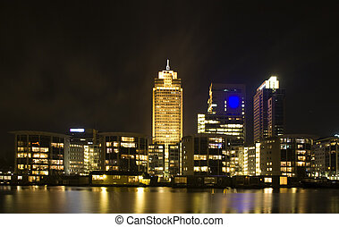 Amsterdam skyline - Amsterdam city skyline with the...