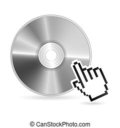 compact disc design over white background vector...