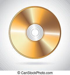 compact disc design over gray background vector illustration...