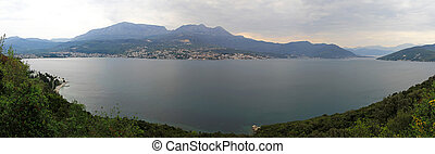 Boka Kotorska Bay - Panorama of Boka Kotorska bay in...