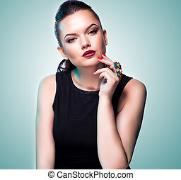 Woman in exclusive jewelry