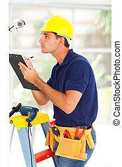 CCTV, cámara, técnico, grabación,...