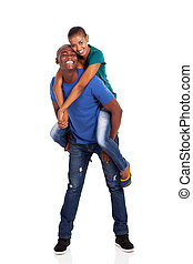 playful young afro american couple - playful young afro...