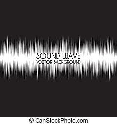 sound wave design over black background vector illustration