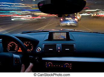 Bewegung, Auto, Bewegen, sehr, schnell