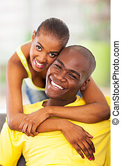 attractive young african couple