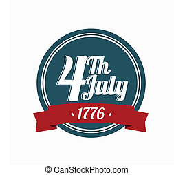 logo 4th july - logo of 4th of july on white background