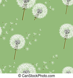 Background seamless pattern with dandelion - Background...