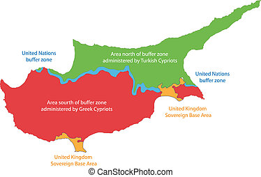 Cyprus map - Map showing the districts of Cyprus