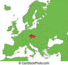 Czech Republic map - Location of Czech Republic on the...