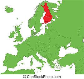 finlande, carte