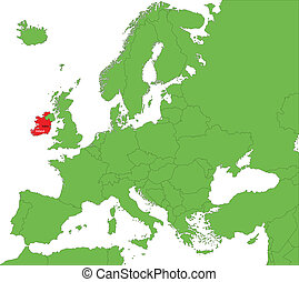 Ireland map - Location of the Republic of Ireland on the...