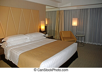contemporary hotel room interior