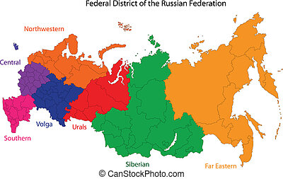 Russia map - Administrative division of the Russian...