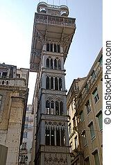 Lisbon elevador de Santa Justa, Baixa (Portugal) - Famous...