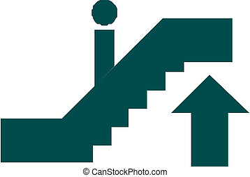 Icon of man on stairs