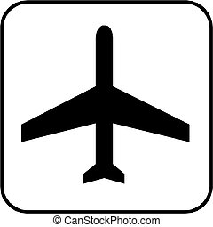 Airport  label sign